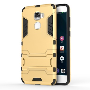 Cool Plastic + TPU Hybrid Shell Phone Casing for LeEco Le Pro3 - Gold
