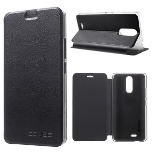 Flip Stand Leather Mobile Phone Case for Ulefone Metal - Black