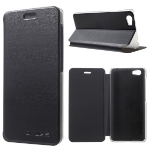 For Vernee Mars Flip Leather Phone Case with Stand - Black
