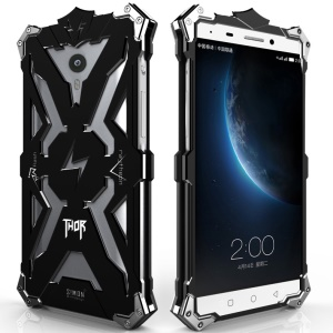 For LeEco Le1 Punk Rock Aviation Aluminum Metal Armor Cell Phone Case - Black