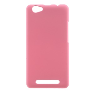 Rubberized PC Back Case Phone Cover for LYF Wind 6 LS 5009 - Pink