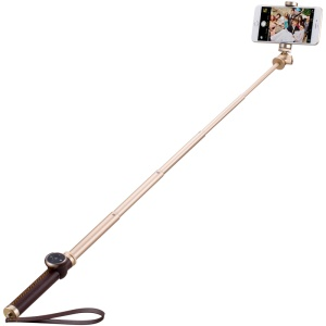MOMAX Selfie Pro 90cm Selfie Stick Monopod with Bluetooth Remote Shutter - Brown