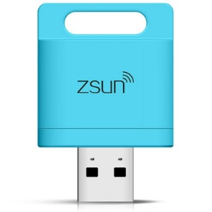 ZSUN 2TB WiFi USB 2.0 TF Card Reader for iOS Android Windows - Blue