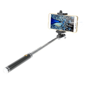 Shooting Aid Foldable Extendable Selfie Stick 3.5mm Audio Cable Control for iPhone 6s Plus / 6 Plus / 6s / 6 - Black