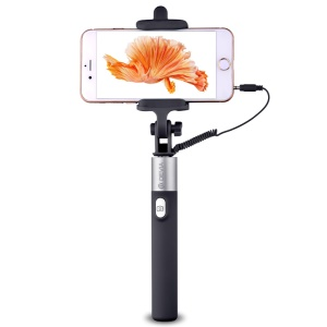 DEVIA Focus Foldable Extendable Selfie Stick Audio Cable Control for iPhone 6s Plus/6 Plus/6s/6 - Black