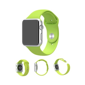 XINCUCO para Apple Watch Serie 1 Serie 2 Serie 3 38mm Silicona Sport Wristband - Verde
