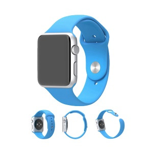 XINCUCO Per Apple Watch Serie 38mm Serie 1 Serie 2 Serie 3 Cinturino Sportivo In Silicone - Blu