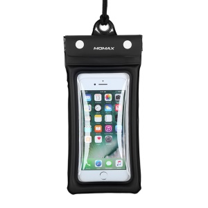 MOMAX AIRPUUCH Universal Waterproof Dustproof Phone Case Bag for iPhone Samsung Huawei etc. - Black
