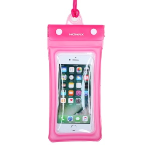 MOMAX AIRPUUCH Universal Waterproof Dustproof Phone Case Bag, Size: 76mm x 150mm - Pink