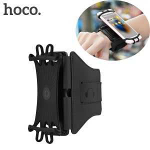 HOCO HS10 180 Degree Rotation Adjustable Sports Armband for 4-5.5 inch Mobile Phones - Black