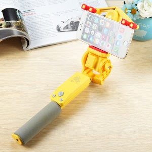 Portable Wireless Bluetooth 4.0 Electric 360 Degree Rotation Extendable Selfie Stick - Yellow