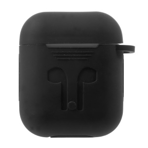 Silicone Protective Shock-proof Case Shell for Apple AirPods Charging Case - Black