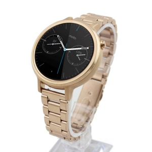 22mm Stainless Steel Watchband for Motorola Moto 360 42mm (2nd gen) - Champagne Gold