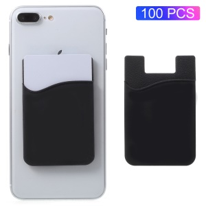 100Pcs/Set Silicone Adhesive Credit/ID Card Holder for All Phones