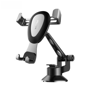 ROCK Adjustable Rotary Dashboard Gravity Strong Suction Car Mount - Silver