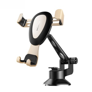 ROCK Adjustable Stable Dashboard Gravity Strong Suction Car Mount - Gold