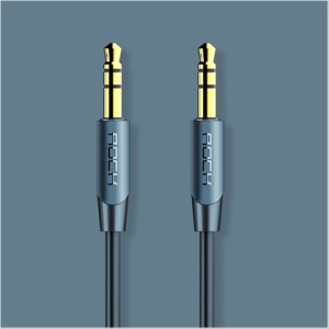 ROCK A1 Gold Plated 3.5mm Male to Male Aux Audio Cable 1m - Blue