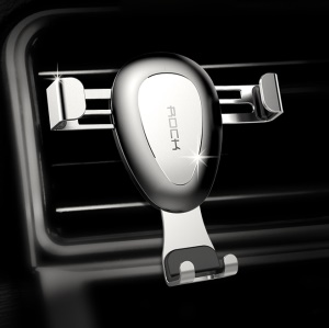 ROCK Universal Ball Joint Gravity Air Vent Car Mount - Silver