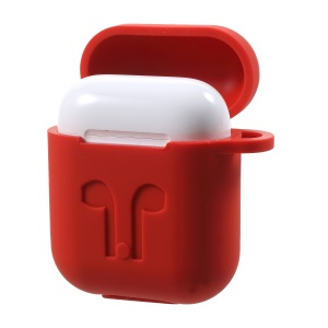 Dust-proof Drop-proof Silicone Cover Case for Apple AirPods - Red