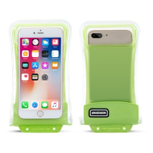 Universal IPX8 20 M Bolso Impermeable Touchable Con Airbag Para Iphone Samsung Huawei Etc.. , Tamaño: 18x9 Cm - Verde