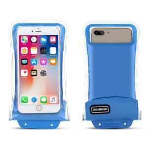 Universal IPX8 20m Waterproof Diving Pouch Case with Airbag for iPhone Samsung Huawei etc., Size: 18x9cm - Blue