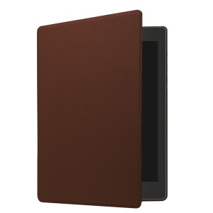 PU Leather Protector Folio Shell Cover for Kobo Aura One 7.8 Inch - Coffee