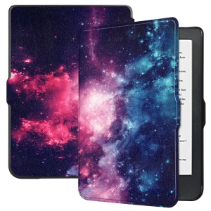 Patterned Leather Smart Protective Cover for Kobo Clara HD (2018) - Colorful Galaxy