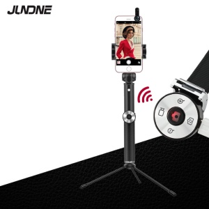 SK16 Extendable Selfie Stick + Bluetooth Self Timer Remote + Tripod + Wide Angle and Macro Lens - Black
