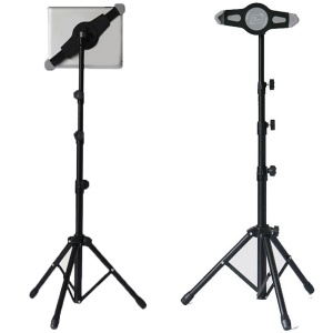Aluminum Alloy Tablet Tripod Holder Retractable Stand (Third Generation) for 7 - 11 Inch Tablets