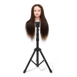 Hairdressing Tripod Stand Holder Salon Mannequin Head Bracket Adjustable Tripod Bracket