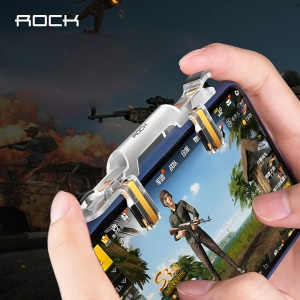 ROCK Transparent Quick Shooting Integrated Phone Game Controller Assist Tool for PUBG STG FPS TPS Shooting Games