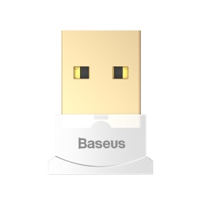 BASEUS Bluetooth Adapter for Computer PC CSR 4.0 USB Dongle with CD - White