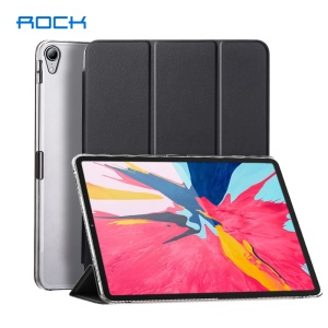 ROCK Slim Smart Tri-fold Leather Case for iPad Pro 11-inch (2018) - Black