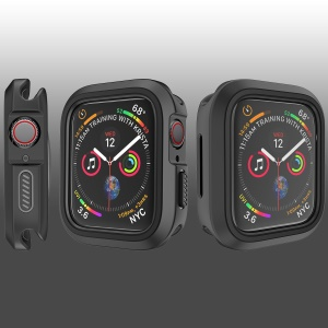 Funda Protectora De TPU Suave Para Apple Watch Serie 4 40mm - Negro