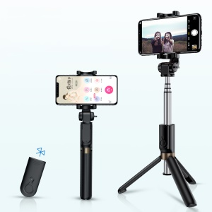 ROCK Bluetooth Portatile Ed Estensibile Mini Selfie Stick Con Treppiede - Nero