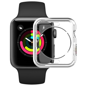 IMAK UX-3 Series for Apple Watch Series 3/2/1 38mm Soft Shell Case [Hollow Front Version]