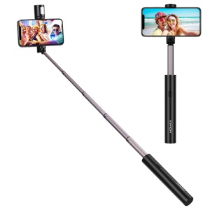 MOMAX KM12 Mini Bluetooth LED Fill Light Selfie Stick for iPhone XS/X, etc - Black