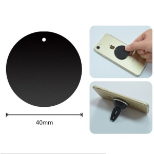 Round / Black / With Hole