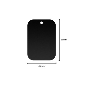 Rectangle / Black / With Hole