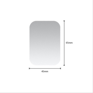 Rectangle / Silver / Without Hole