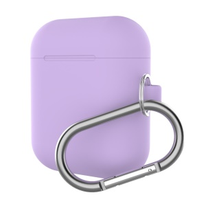 Silicone Box For Apple AirPods Case Protective Skin Earphone Charger Cover - Purple