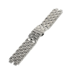 Butterfly Lock Stainless Steel Watchband Strap for Pebble Steel 2 - Silver