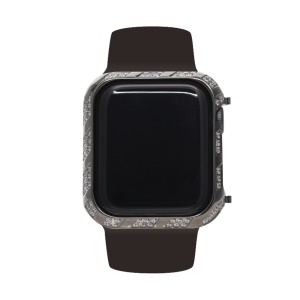 Custodia Protettiva In Metallo Con Strass Brillanti Per Apple Watch Serie 4 44mm - Grigio