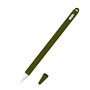 Silicone Cap Holder Protective Anti-Scratch Nib Cover for Apple Pencil 2 - Army Green