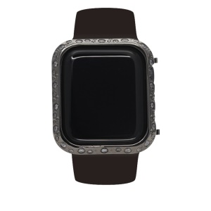 Metal Rhinestone Decor Watch Protective Case for Apple Watch Series 4 44mm (Big&Small Circle) - Black