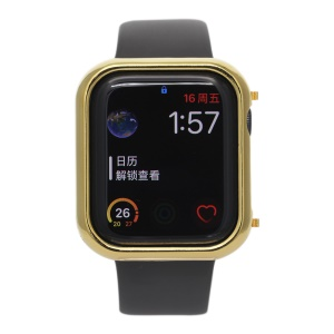 Classic Electroplating Metal Protective Case for Apple Watch Series 4 40mm - Gold