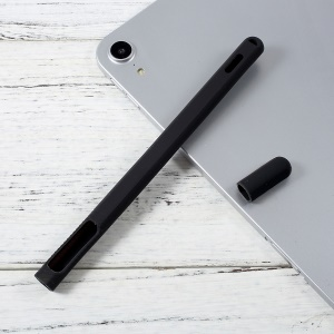 Drop-proof Silicone Holder Sleeve Case Cover for Apple Pencil 2 - Black