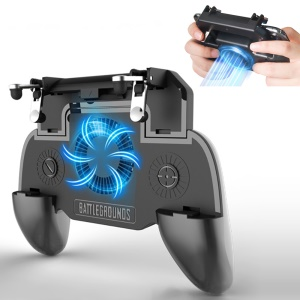 Game Controller Gamepad Shoot and Aim Trigger Phone Cooling Pad Gaming Joysticks with 2000mAh Battery