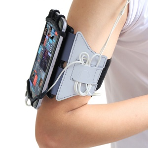 VUP 180 Degree Rotation Running Jogging Gym Bike Armband Case for 4.0-6.0 inch Mobile Phones - White