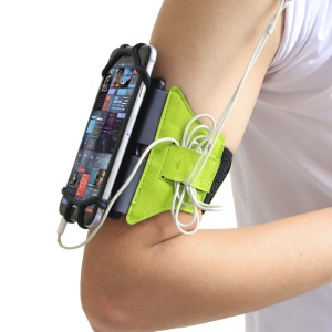 VUP 180 Degree Rotation Running Jogging Gym Bike Armband Case for 4.0-6.0 inch Mobile Phones - Green